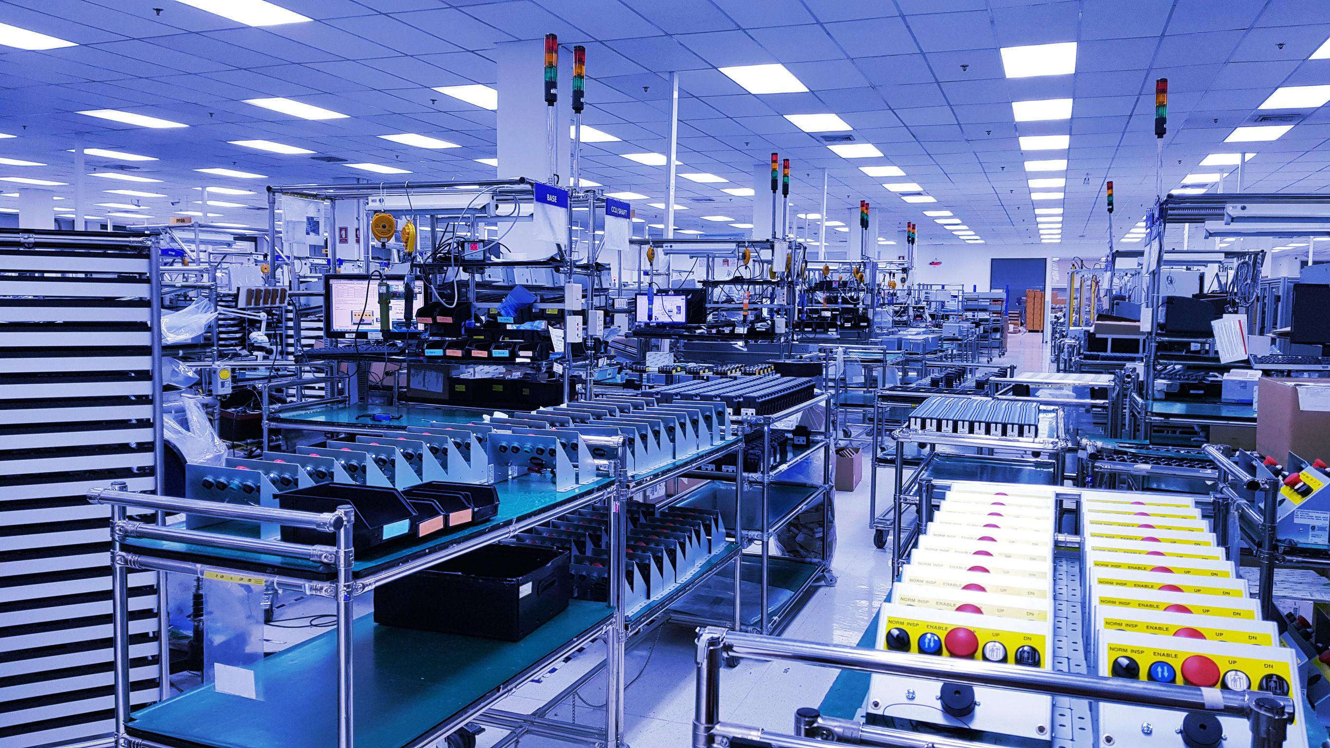 control de la producción industrial